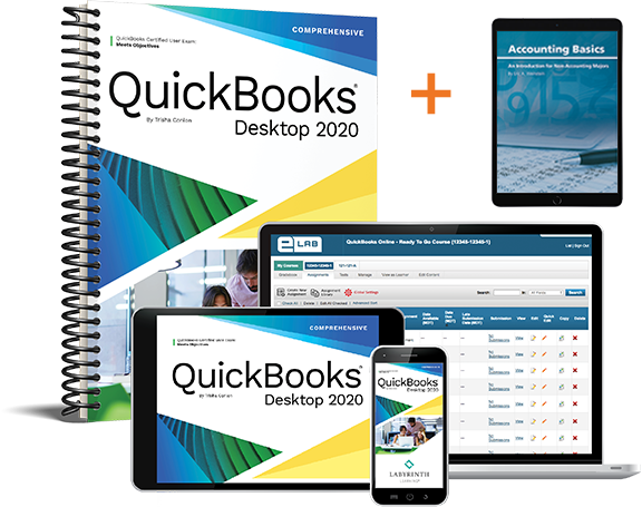 (Bundle) QuickBooks Desktop 2020: Comprehensive + Accounting Basics
