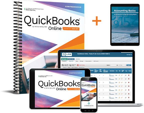 (Bundle) QuickBooks Online 2020-2021: Comprehensive + Accounting Basics