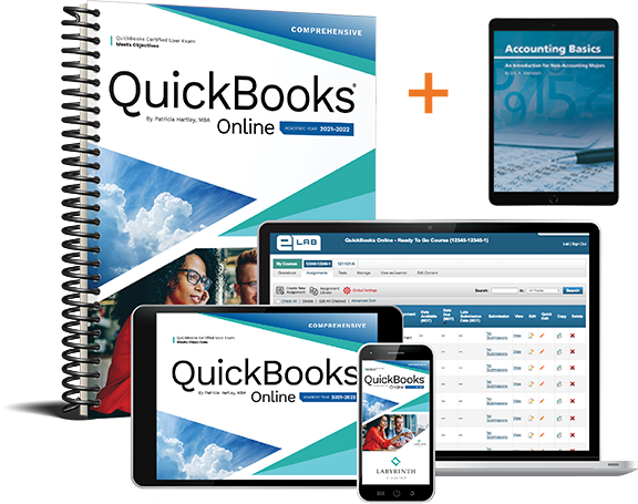 (Bundle) QuickBooks Online 2021-2022: Comprehensive + Accounting Basics