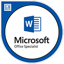 MOS certified Word 2016