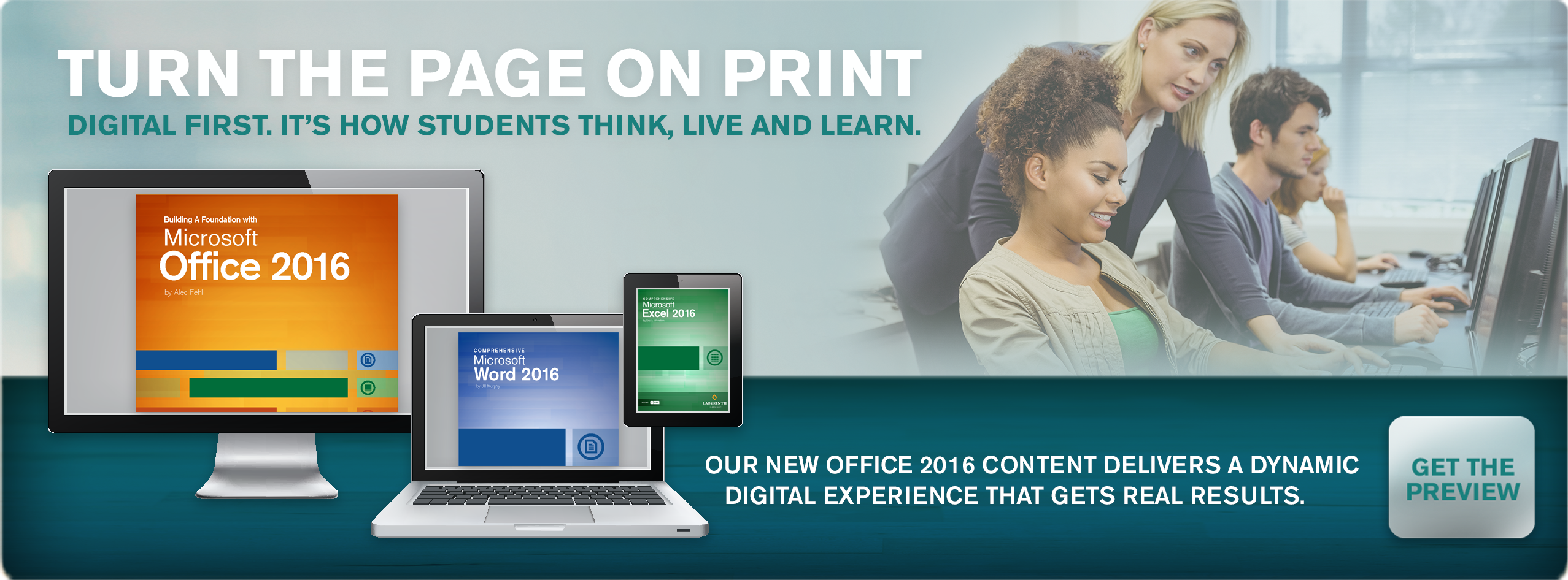 Office 2016 Preview. Powerful learning solutions for Microsoft Office 2016 are under way. Join a webinar.